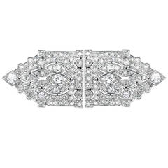 Garrard & Co. Pair of Diamond Platinum Clips