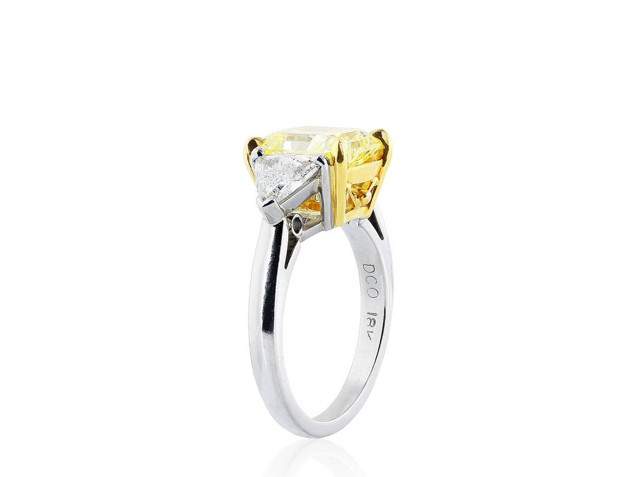 whiteleyphoto yellow ctw tone white diamond product ring canary gold two