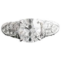 2.15 Carat Cushion Cut Diamond Ring