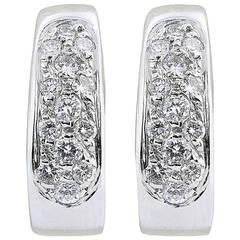.62 Carat Diamond gold Hoop Earrings