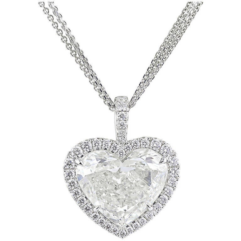 Gia certified 502 carat heart shaped diamond pendant at 1stdibs mozeypictures Images