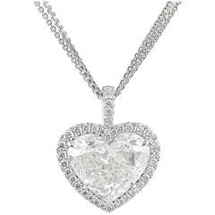 GIA Certified 5.02 Carat Heart Shaped Diamond Pendant