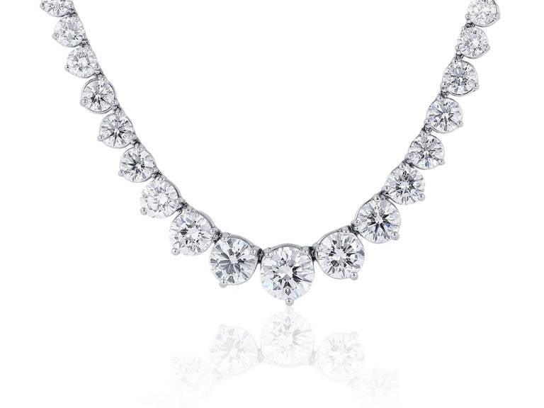 44.60 Carat Diamond Riviere Necklace 2