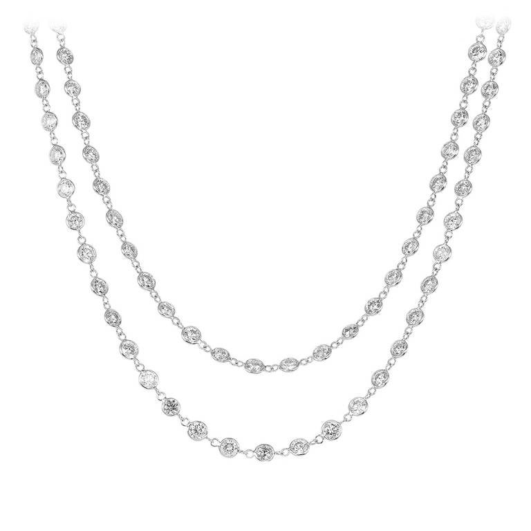 14.75 Carat Diamond by the Yard Necklace 1