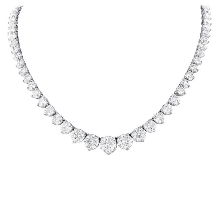 44.60 Carat Diamond Riviere Necklace 1