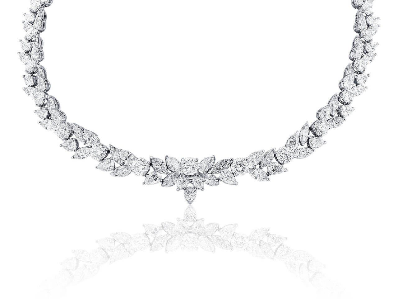 48.95 Carat Fancy Shape Diamond Platinum Necklace 2