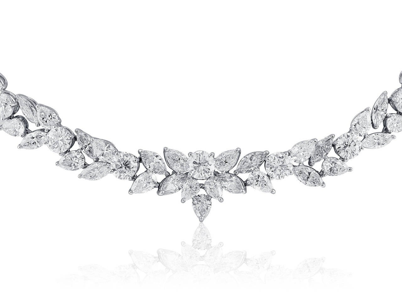 48.95 Carat Fancy Shape Diamond Platinum Necklace 3