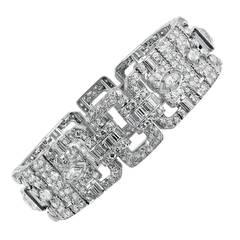 Lacloche Freres Art Deco Diamond Platinum Bracelet