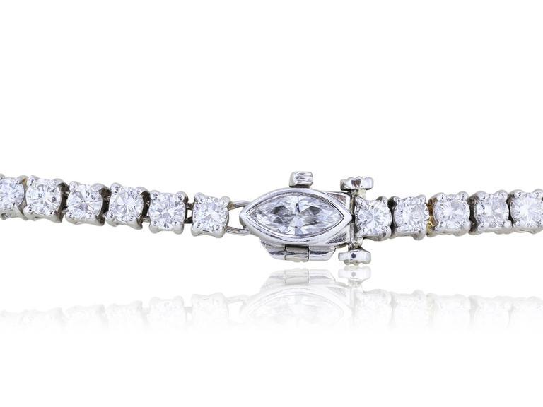 Platinum Diamond 13.60 Emerald 8.09 Carat Drop Necklace 3