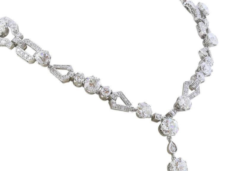45 Carat Edwardian Sautoir Diamond Necklace 3