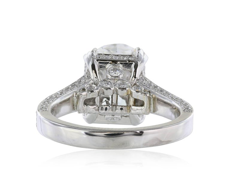 GIA Certified 4.09 Carat G/VS1 Oval Diamond Engagement Ring 4