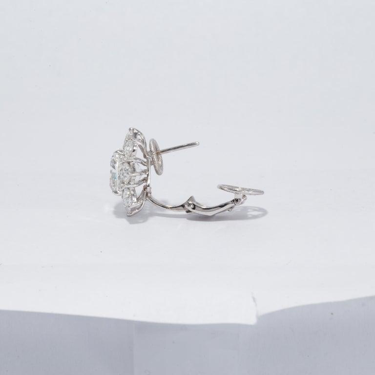 Cushion Cut GIA Certified 10.03 Carat Cushion Diamond Earrings For Sale