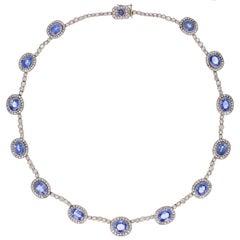 Fabergé Sapphire Diamond Gold Necklace