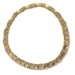 Bulgari Parenthesis Diamond Gold Collar Necklace