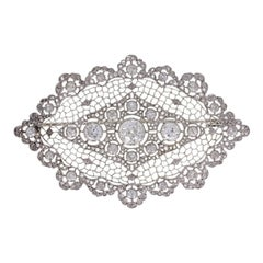 1930s Buccellati Diamond Lace Brooch