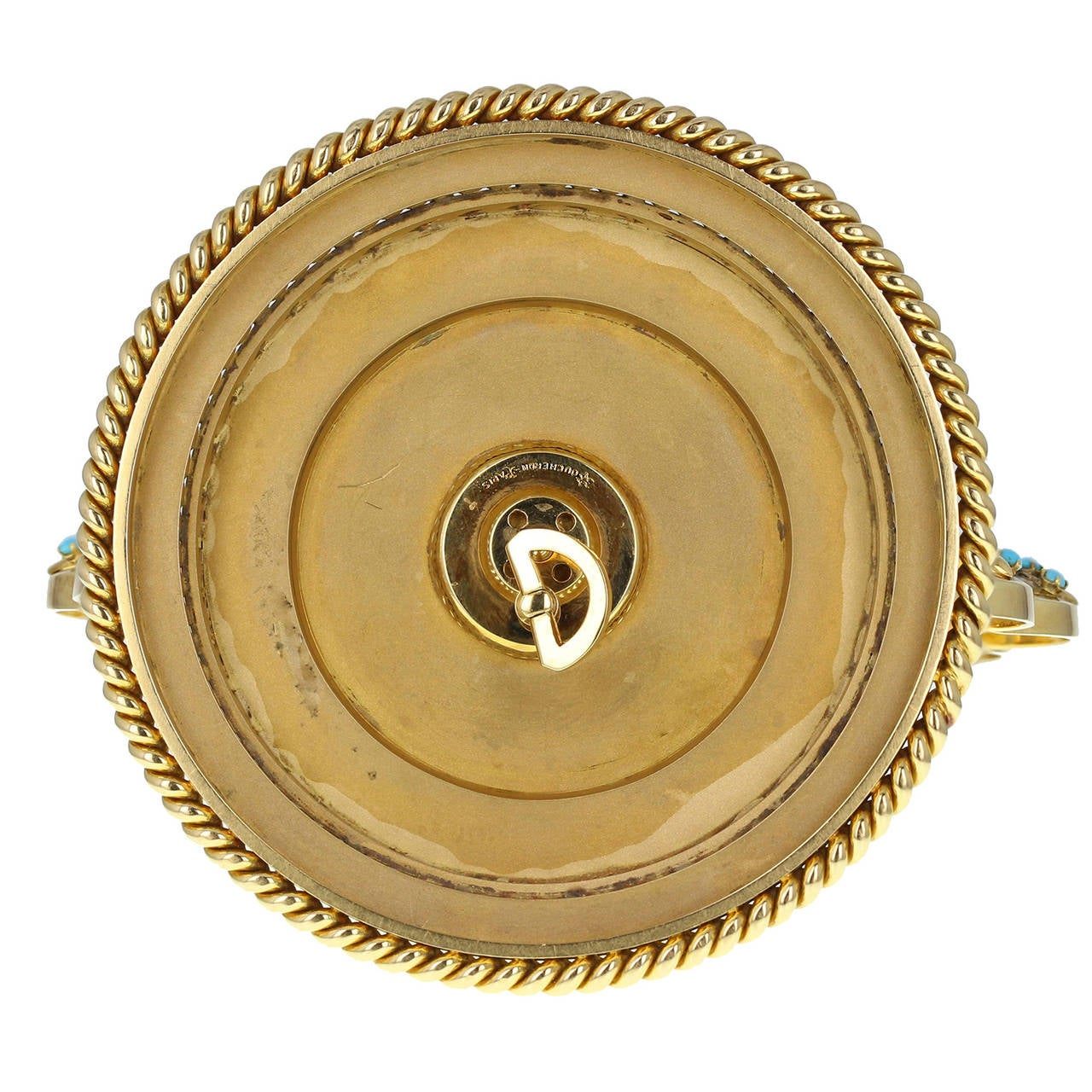 Important Boucheron Imperial Iranian Presentation Gem Set Gold Clock 1955 In Excellent Condition In Newcastle Upon Tyne, GB