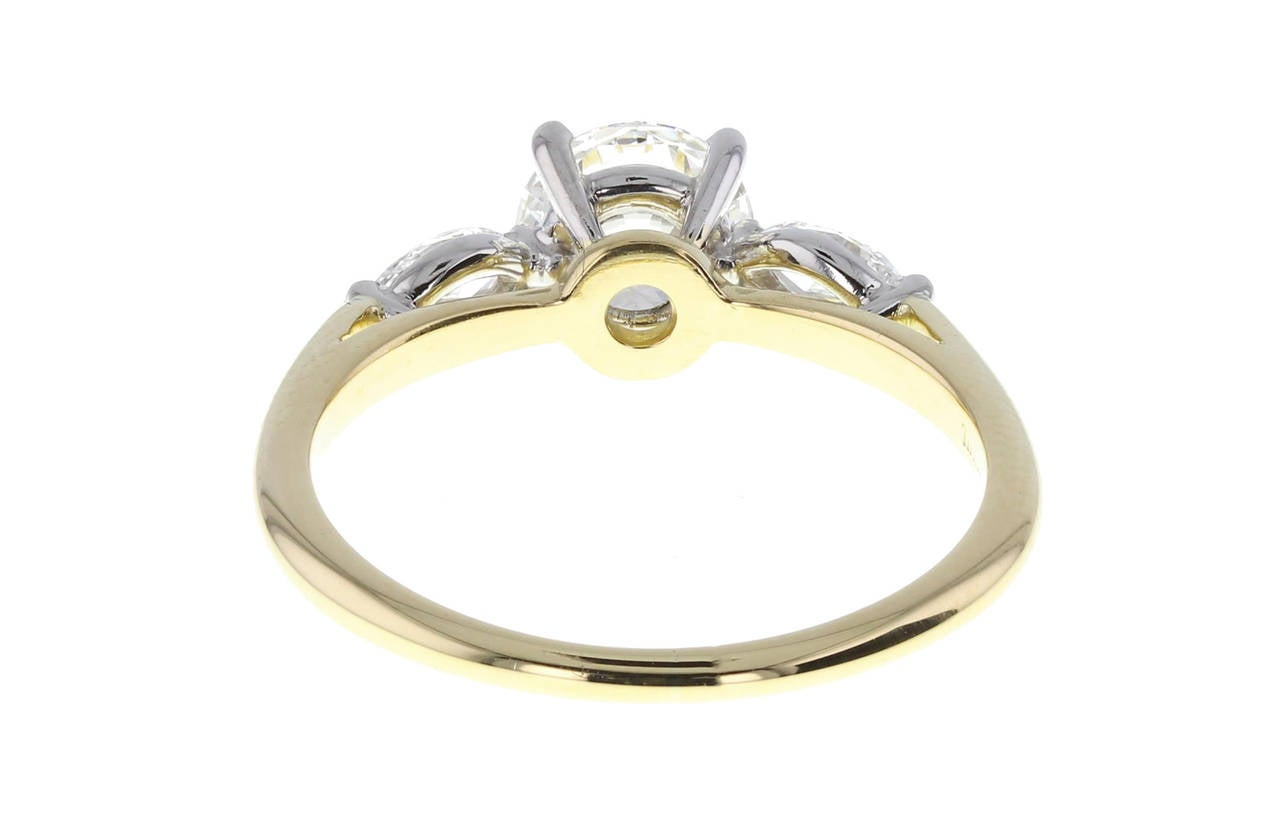 Tiffany & Co 1 08 Carat Diamond Platinum Engagement Ring image 3