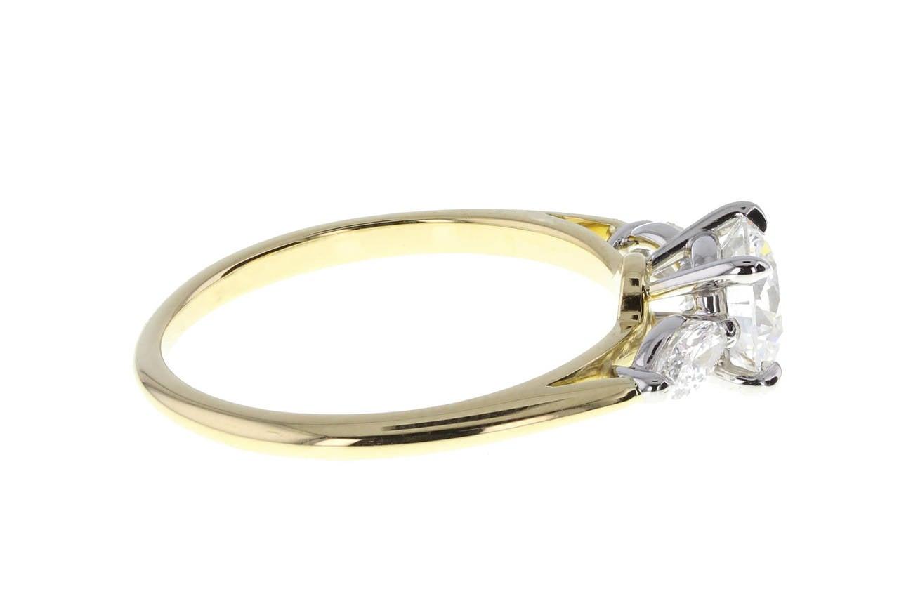 Tiffany & Co 1 08 Carat Diamond Platinum Engagement Ring image 2