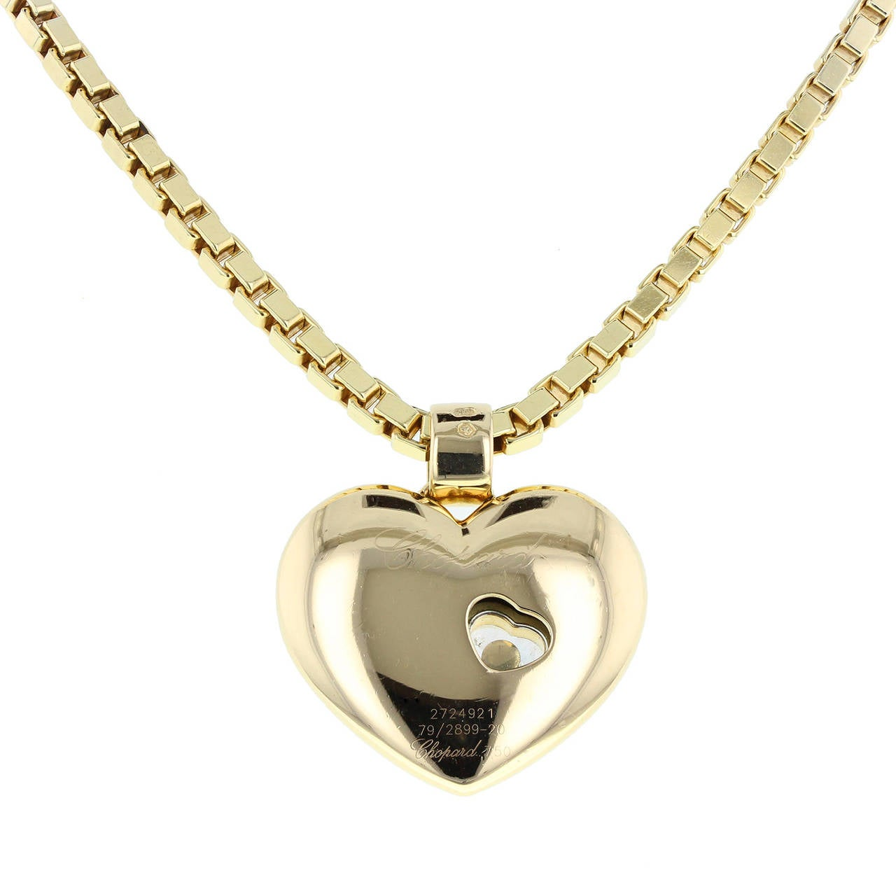 Women's Chopard Happy Diamond Love Heart Necklace For Sale