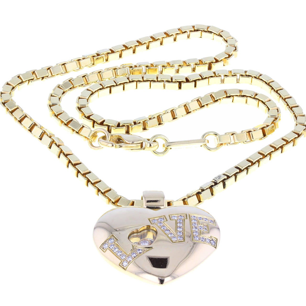 Chopard Happy Diamond Love Heart Necklace 3