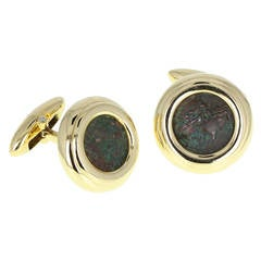 Bulgari Thurium IV Century BC Gold Coin Cufflinks