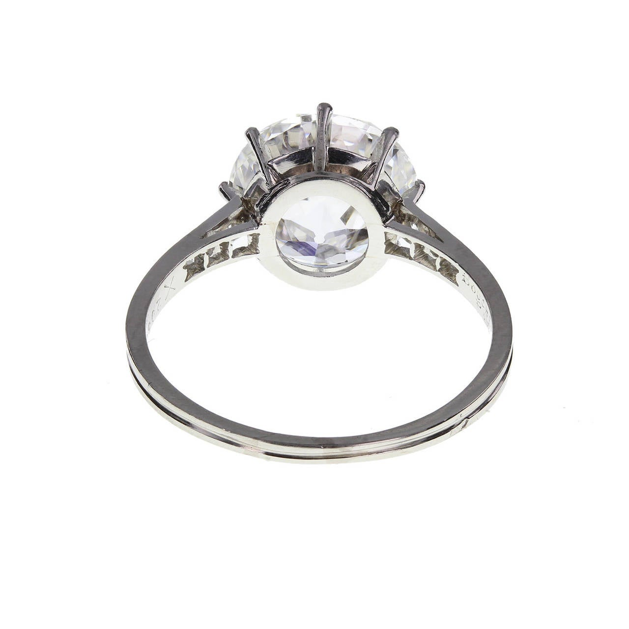 Boucheron 3.91 Carat Brilliant-Cut Diamond Platinum Engagement Ring In Excellent Condition For Sale In Newcastle Upon Tyne, GB