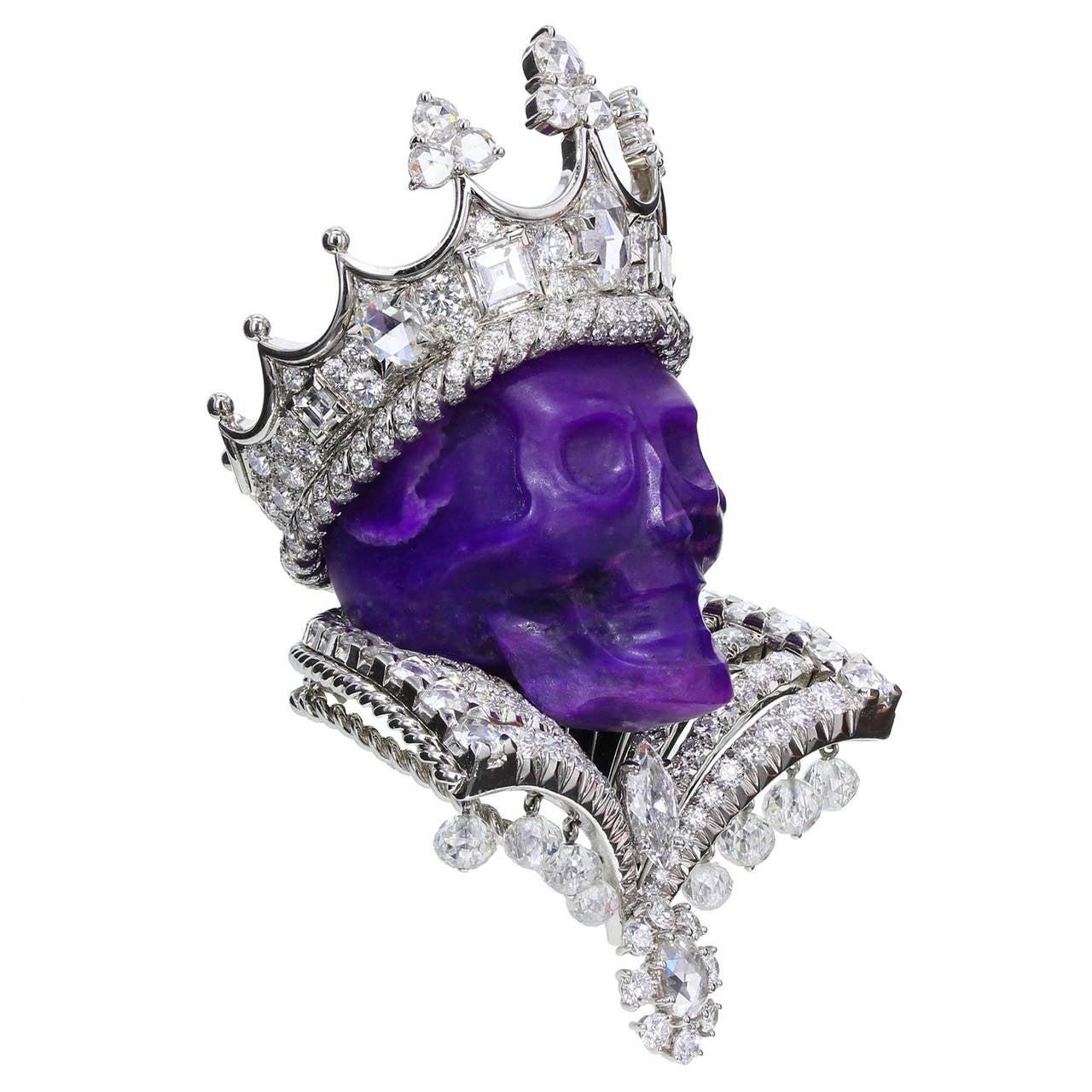 Dior Joaillerie Victoire de Castellane Kings and Queens Roi de Sugilite Pendant 3