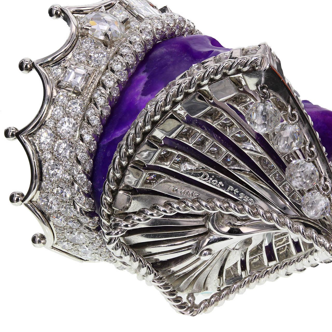 Dior Joaillerie Victoire de Castellane Kings and Queens Roi de Sugilite Pendant 5