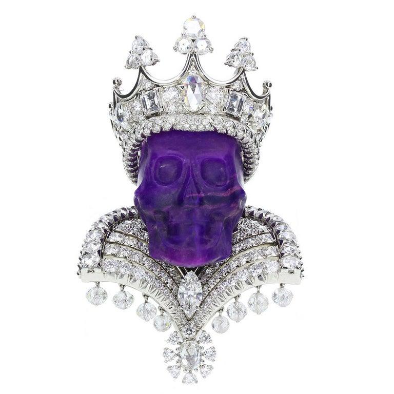 Dior Joaillerie Victoire de Castellane Kings and Queens Roi de Sugilite Pendant For Sale