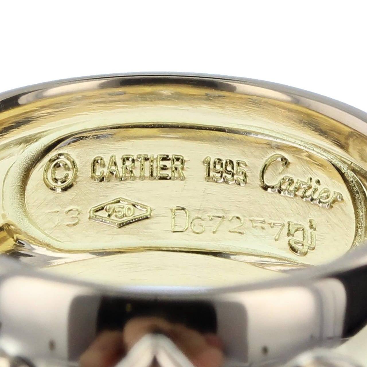 Women's Cartier Sapphire Diamond Gold Parure For Sale