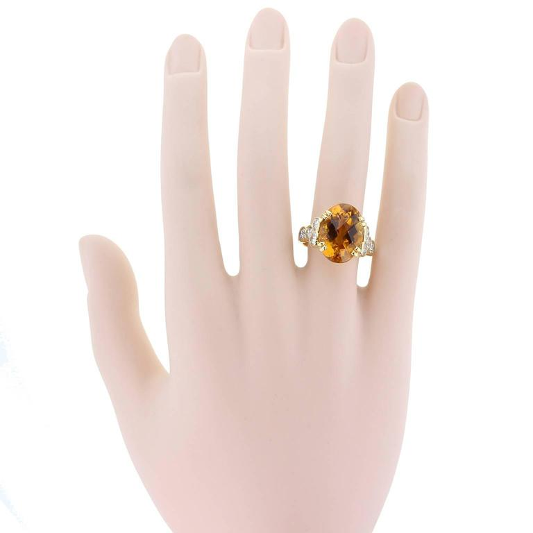 Citrine Diamond Gold Ring  In As new Condition For Sale In Newcastle Upon Tyne, GB