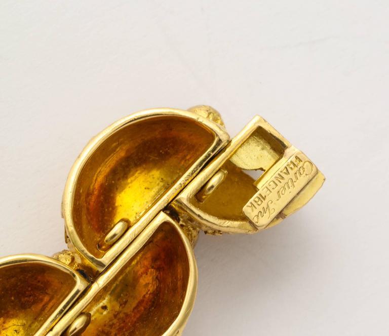 Women's 1970s Cartier Paris Sapphire Gold Bracelet For Sale