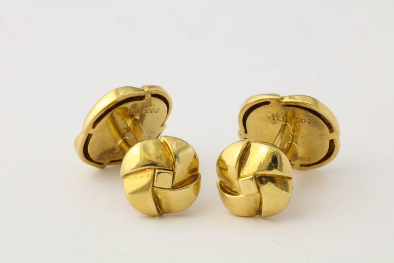 Jose Hess Diamond Gold Cuff Links For Sale 2