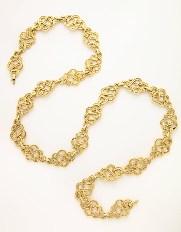1960s Buccellati Gold Knot Chain Necklace For Sale 1