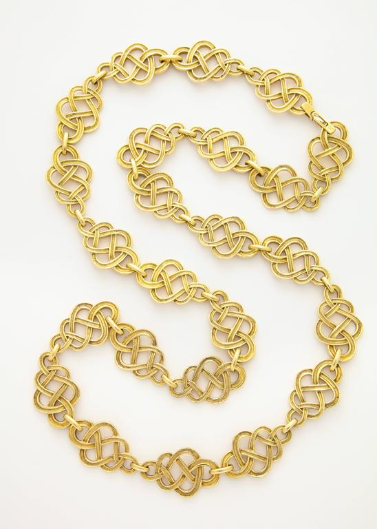 1960s Buccellati Gold Knot Chain Necklace For Sale 2