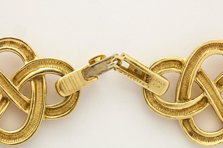 1960s Buccellati Gold Knot Chain Necklace For Sale 3