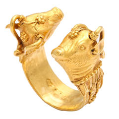 1970s Zolotas Paris Figural Gold Ring