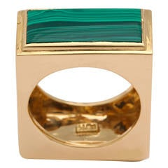 1960s Tiffany & Co. Lapis Lazuli Malachite Gold Ring.