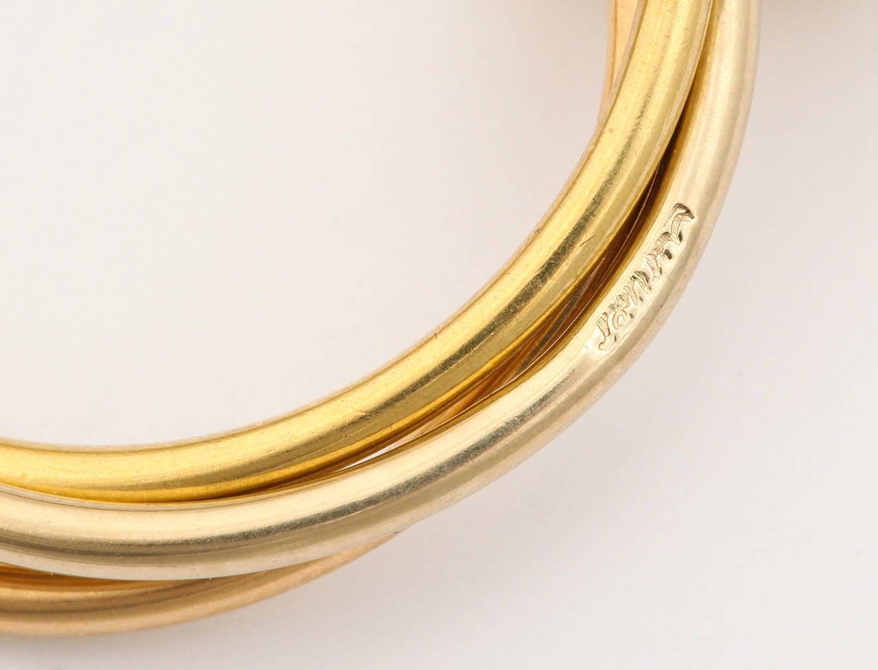1980s Cartier Paris Gold Triple Loop Ear Clips 4