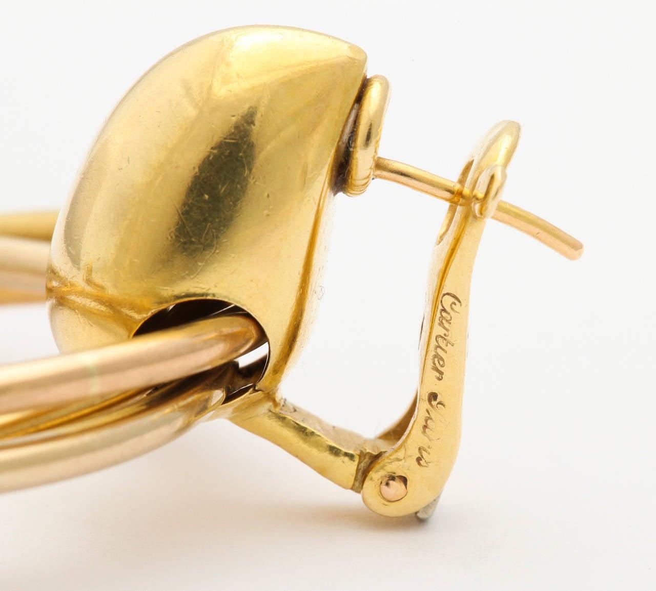 1980s Cartier Paris Gold Triple Loop Ear Clips 7