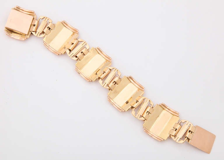 Art Deco Rose Gold Bracelet at 1stdibs