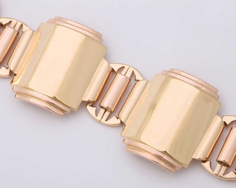 art deco rose gold bracelet at 1stdibs. Black Bedroom Furniture Sets. Home Design Ideas