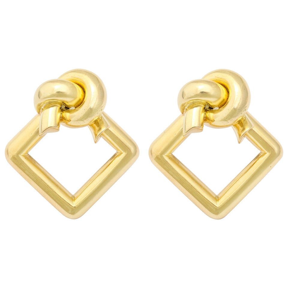 1980s Cartier Gold Knot Ear Clips