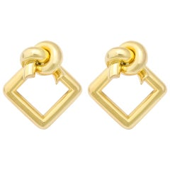 1980s Cartier Gold Knot Ear Clips