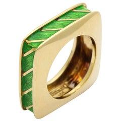 Tiffany & Co. Enamel Gold Ring