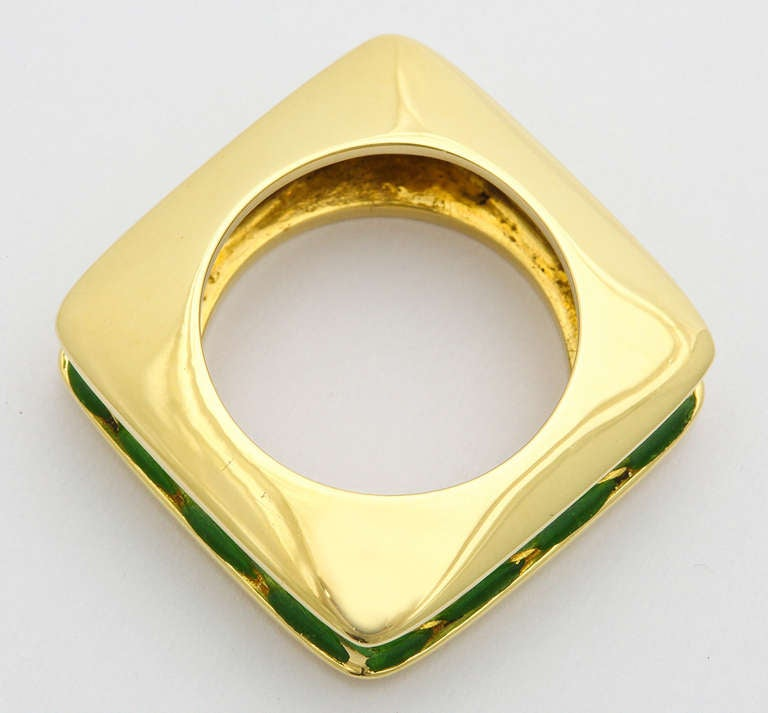 Tiffany And Co Enamel Gold Ring At 1stdibs