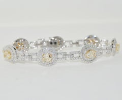 Diamond Bracelet 7.42 Carat in 18 Karat White Gold