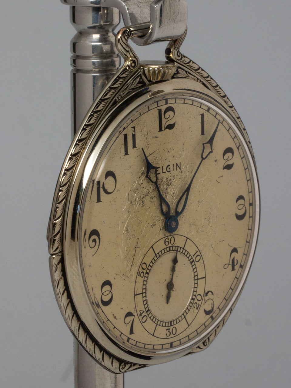 elgin white gold filled pocket circa 1930s for sale