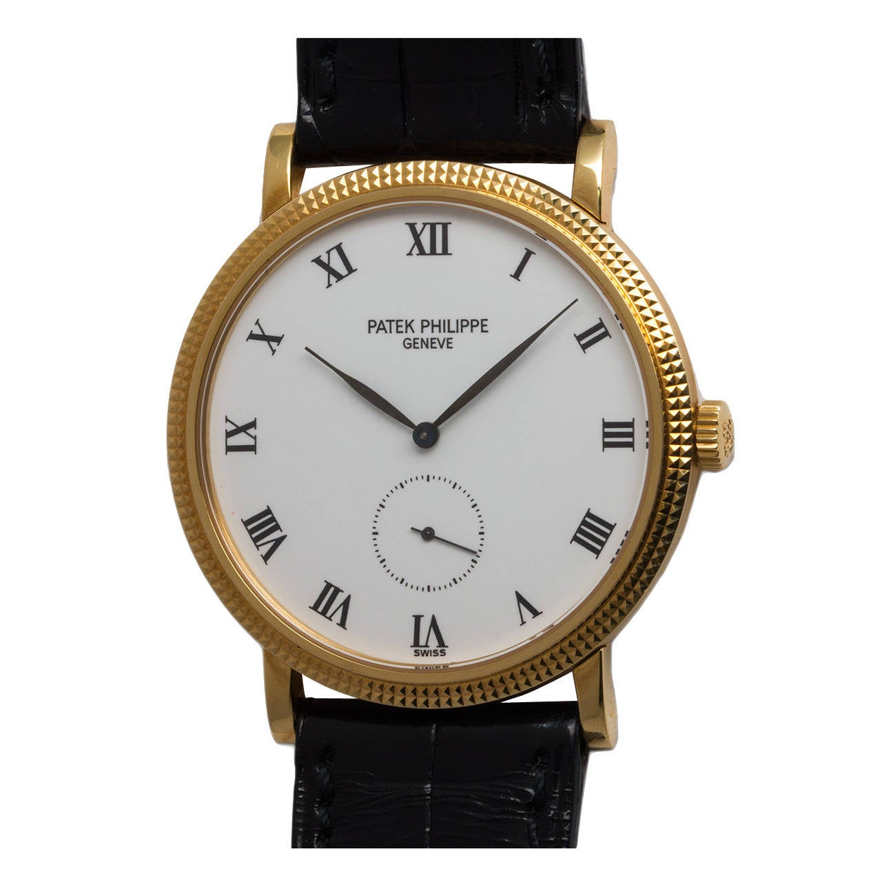 Patek Philippe Yellow Gold Calatrava Wristwatch Ref 3919  For Sale