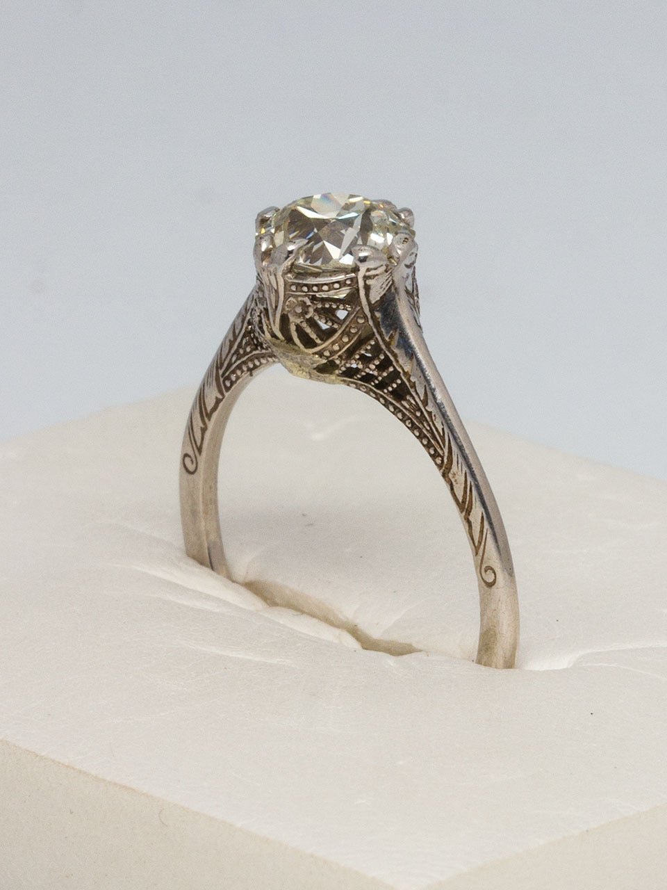 1920s Diamond Gold Engagement Ring For Sale At 1stdibs